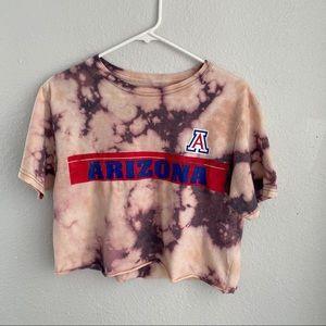 University of Arizona UA Bleach Dyed Crop Top